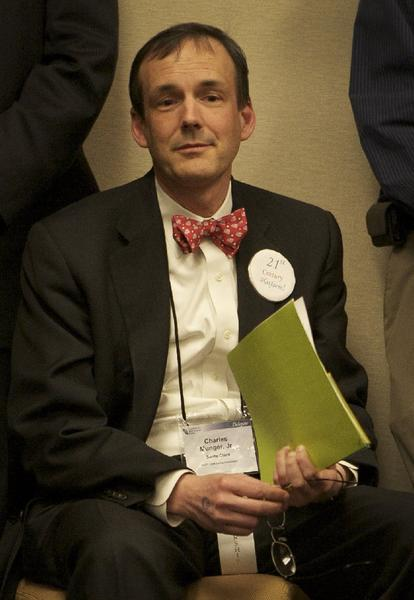 Charles T. Munger Jr., shown here in 2008 at the California Republican Party convention, was a major donor to the yes-on-Proposition 32 campaign.