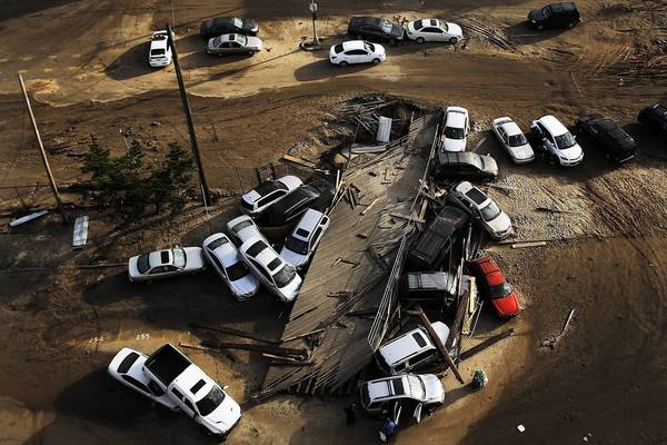 The large number of Sandy-damaged cars raises the risk that many will wind up in the hands of unscrupulous dealers who will sell them to unwitting consumers. Above. abandoned and flooded vehicles in New York on Nov. 2.