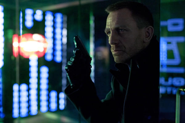 "Daniel Craig plays Agent 007, James Bond, for the third time in ""Skyfall."""