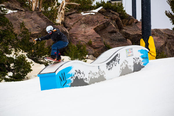 A boarder on Thursday, opening day, at Mammoth Mountain.