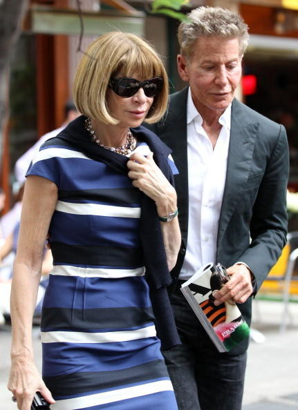 American fashion designer (seen here with Vogue editor Anna Wintour) Calvin Klein is 69.