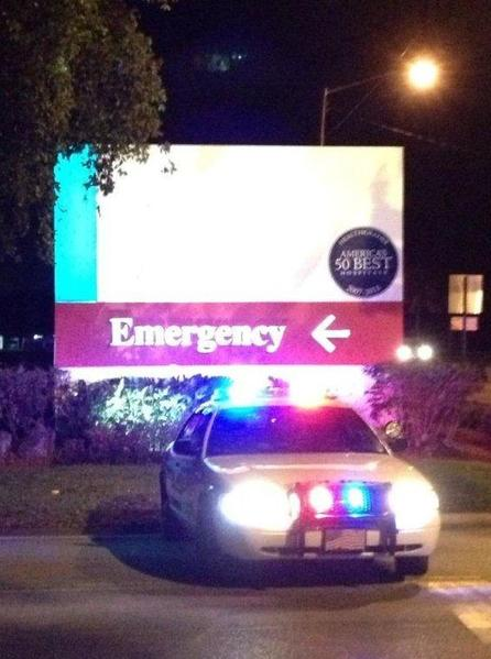 Police Thursday night set up a perimeter around Delray Medical Center following reports of several shootings.