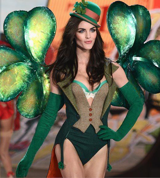 Bedazzled bras and half-clad circus acts: Welcome to the Victoria's Secret fashion show: Hilary Rhoda celebrates St. Patricks Day
