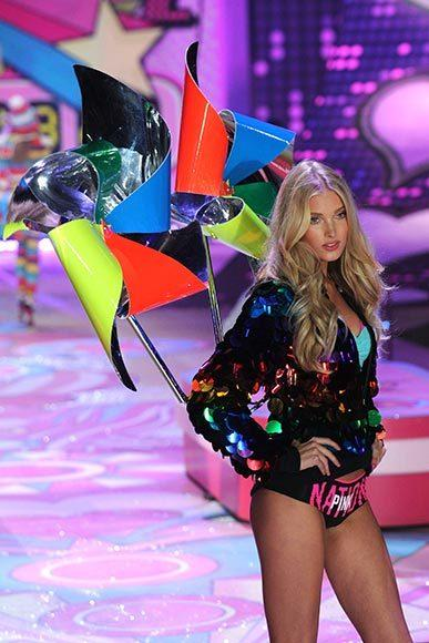 Bedazzled bras and half-clad circus acts: Welcome to the Victoria's Secret fashion show: Elsa Hosk is thrilled to be a pinwheel
