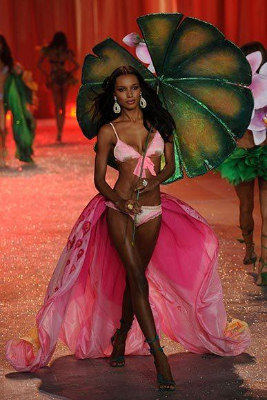 Bedazzled bras and half-clad circus acts: Welcome to the Victoria's Secret fashion show: Jasmine Tookes