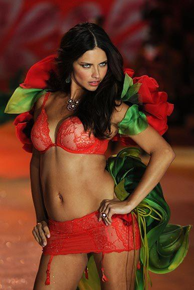Bedazzled bras and half-clad circus acts: Welcome to the Victoria's Secret fashion show: Adriana Lima
