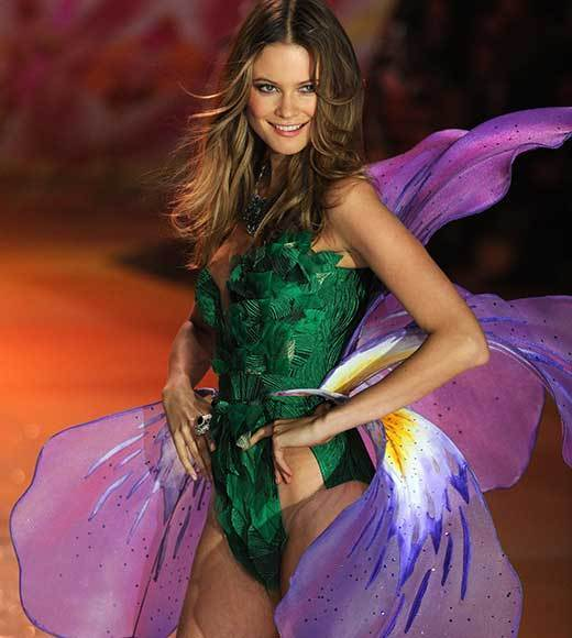 Bedazzled bras and half-clad circus acts: Welcome to the Victoria's Secret fashion show: Behati Prinsloo