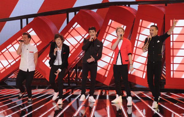 "One Direction performs live on ""The X Factor."""