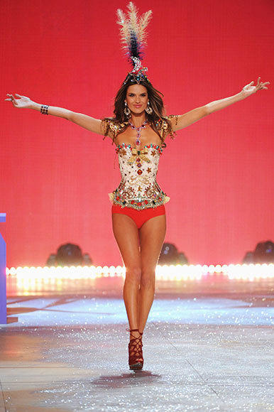 Bedazzled bras and half-clad circus acts: Welcome to the Victoria's Secret fashion show: Victorias Secret Angel Alessandra Ambrosio walks the runway during the 2012 Victorias Secret Fashion Show