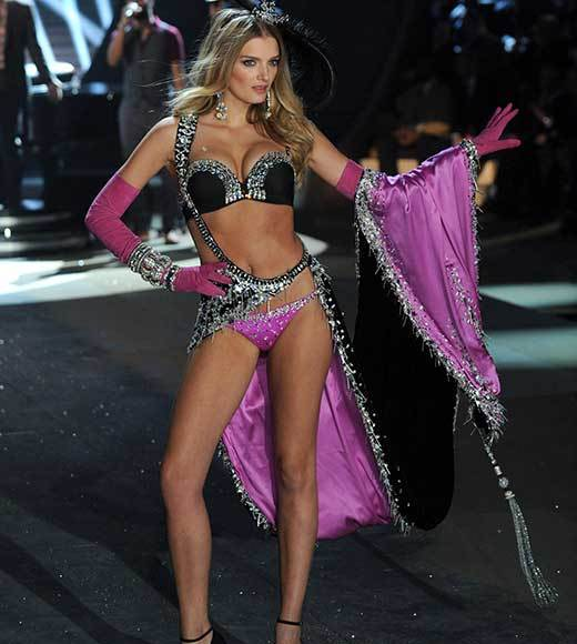 Bedazzled bras and half-clad circus acts: Welcome to the Victoria's Secret fashion show: Lily Donaldson
