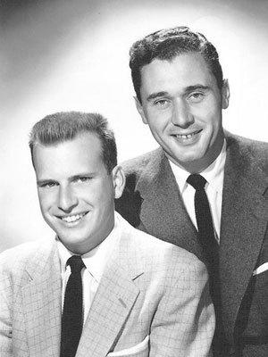 """Hee Haw"" co-creator Frank Peppiatt, right, is shown in 1956 with his longtime writing and producing partner, John Aylesworth. Peppiatt died Wednesday at 85."