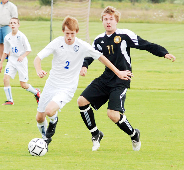 Burt Lake Northern Michigan Christian Academy senior midfielder Aaron Chatfield (left) was named to the Michigan High School Soccer Coaches Association Dream Team Thursday. Chatfield is just the fifth Division IV player to ever be named to the team.