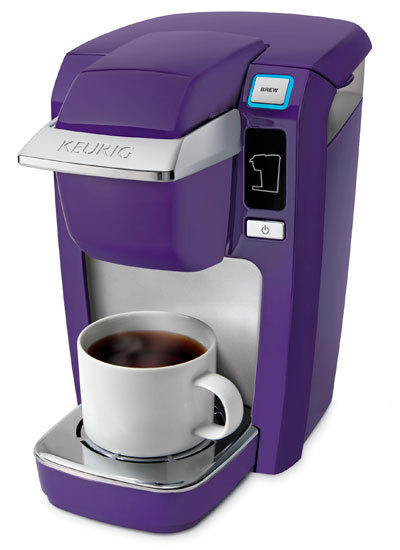A Keurig MINI Plus Personal Coffee Brewer gives them the gift of coffee any time, no waste and great taste. Using K-cups the MINI can brew one 6, 8 or 10 oz cup in under two minutes. There are a variety of colors, $99.95-$125. Available at Kohl's.