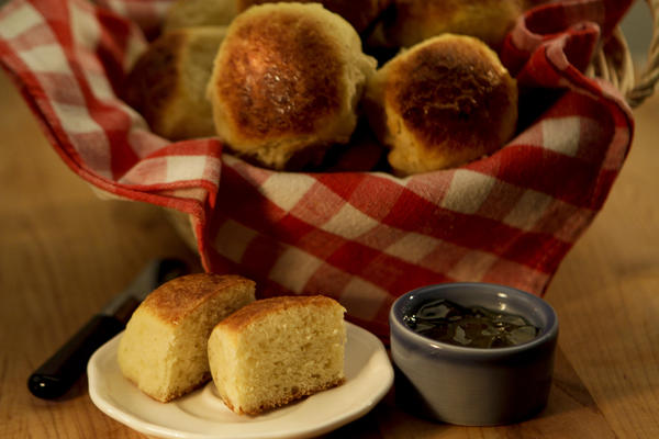 Flavorful Sally Lunn rolls, adapted from Rye in Louisville, Ky. Recipe