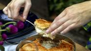 Recipe: Potato and mushroom goat cheese gratin <i>en croute</i>