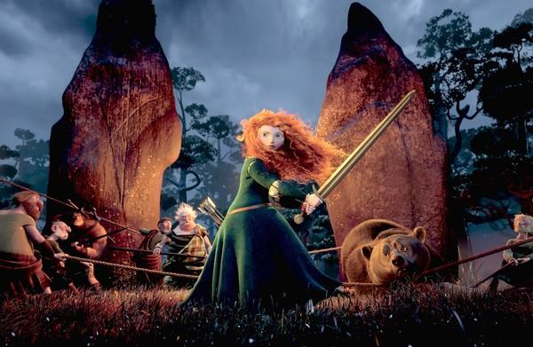 "Merida, voiced by Kelly Macdonald, in ""Brave."""
