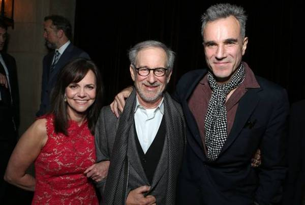 "Sally Field, left, Steven Spielberg and Daniel Day-Lewis attend the world premiere of ""Lincoln,"" which marked the closing night of AFI Fest."