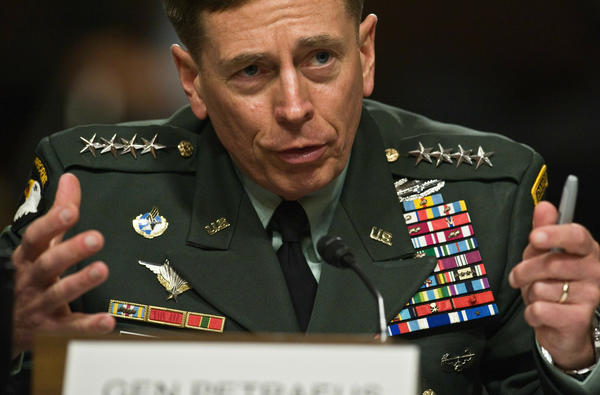US Gen. David Petraeus appears before the Senate Armed Services Committee for a confirmation hearing to become the head of U.S. and NATO forces in Afghanistan on June 29, 2010.