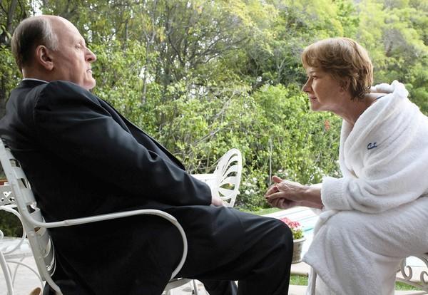 "Anthony Hopkins and Helen Mirren in ""Hitchcock."""