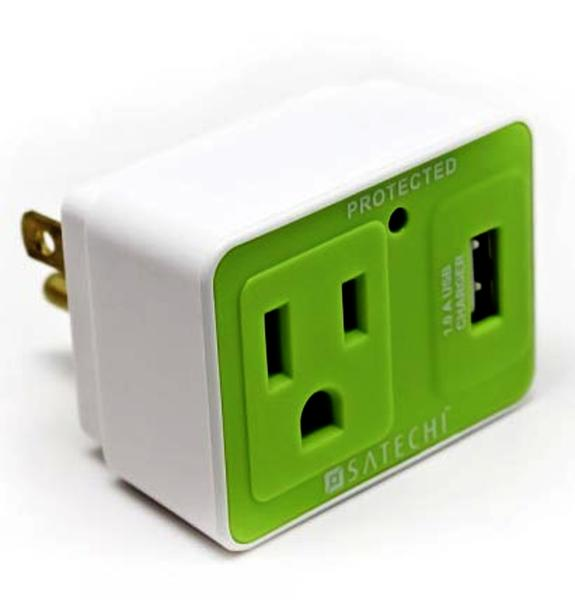 The Satechi Compact Surge Protector doesn't take up much room and can open up at least one USB port on your computer.