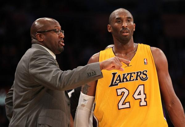 Mike Brown and Kobe Bryant