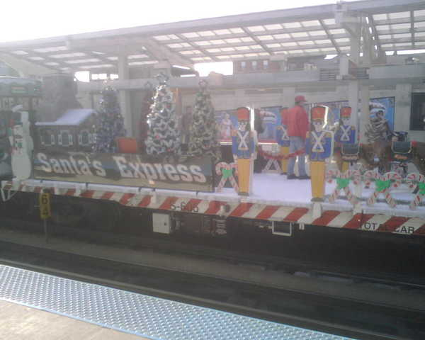 Santa's playground -- on the CTA.