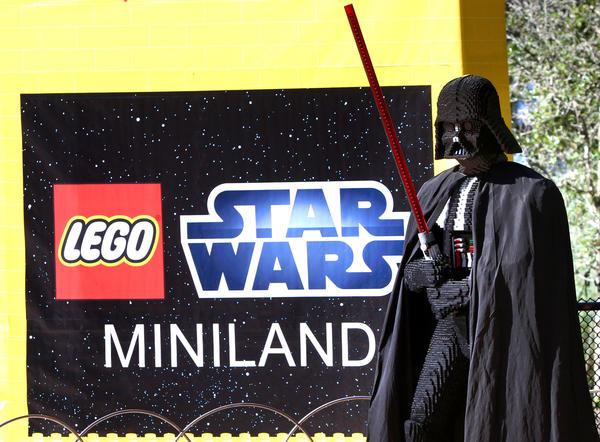 Scenes from the grand opening of the Stars Wars Miniland display at Legoland Florida, Friday, November 9, 2012.
