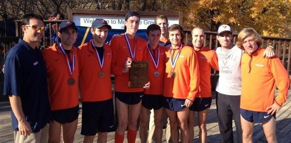 Virginia's men's cross country team won the 2012 NCAA Southeast Regional in Charlotte, N.C., as Grafton High alumnus Kyle King took 10th place.