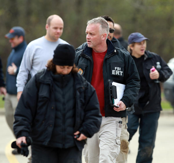 "Federal, state and county officials conclude another round of searches in Hammel Woods in Shorewood, Ill. Officials have reportedly described their searches as an ""ongoing criminal investigation,"" but it is widely believed they have been searching for the body of Stacy Peterson, who is missing and presumed dead."