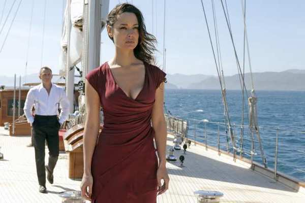 "Daniel Craig and Berenice Marlohe star in the latest James Bond movie ""Skyfall."""
