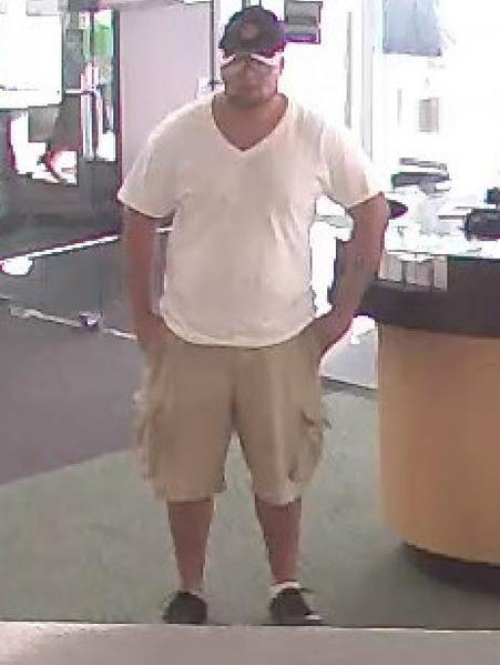 The FBI is searching for a man who robbed a TD Bank in Lighthouse Point in his undershirt