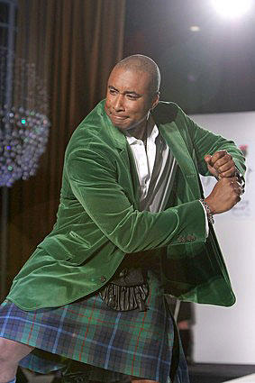 New York Yankees' Bernie Williams shows a flair for the Scottish.