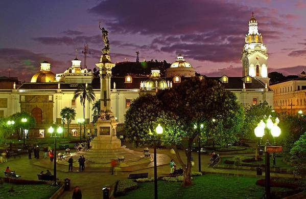 The Plaza Grande, once rife with crime and drugs, now attracts tourists and locals alike.