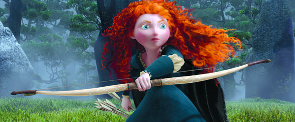 Merida, a fiery Scottish princess, voiced by Kelly MacDonald, is the star of the Pixar film 'Brave.'
