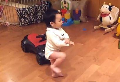 "A screen grab from the YouTube video ""Baby dancing to Gangnam Style."""