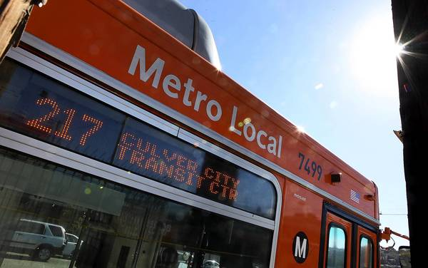A Metro 217 line bus stops in Culver City. A man sexually assaulted an 18-year-old disabled woman on a near-empty 217 bus in Culver City just after 5 p.m. on Wednesday. Authorities said both the victim and suspect boarded the bus in Culver City at La Cienega and Jefferson boulevards.
