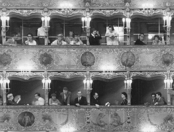 Wallpaper from the design studio Trove turns the tables: The audience inside an Italian opera becomes the show that plays out across your wall.