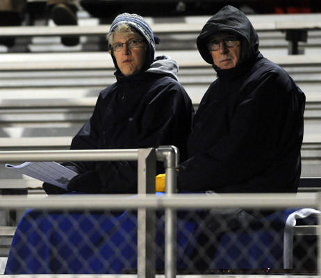 Fans enjoy the action during the Nazareth vs East Stroudsburg football game at Andrew Leh Stadium on Friday.