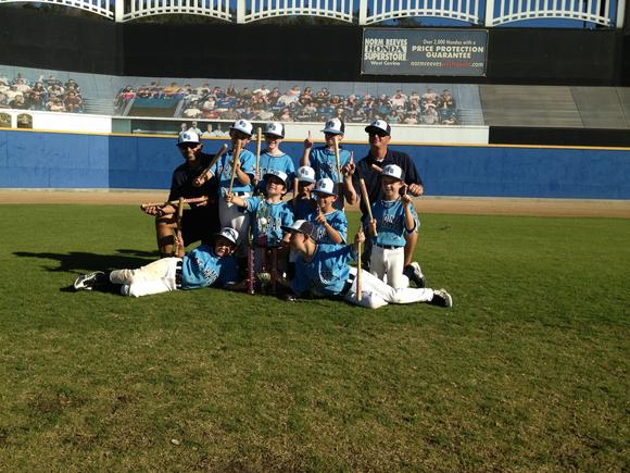The U8 Bat Rays, a team made up of players from Newport Beach and Irvine, won the Halloween Haunt tournament recently.