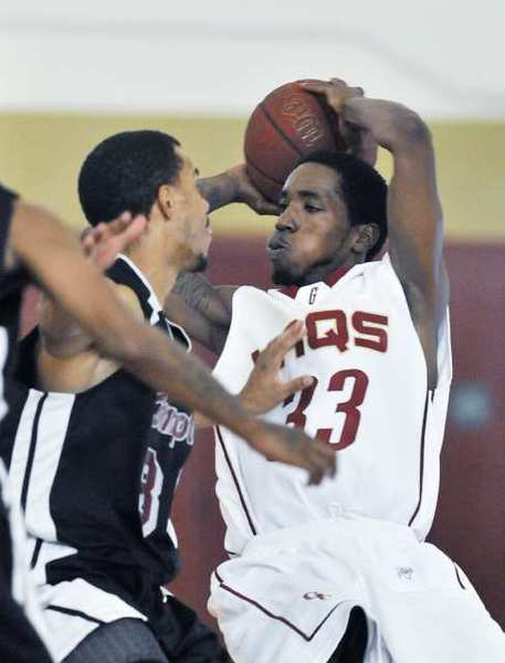 GCC's Mike Johnson scored seven points, including a key three pointer to pull the Vaqs within four in the first half. That was as close as they would get.