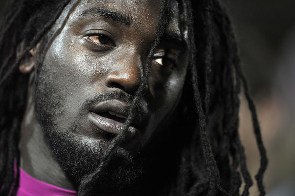 South Plantation running back Alex Collins suffered an injury during the first half against Plantation.