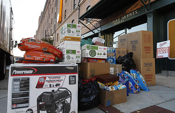 The Orioles partnered with Von Paris Moving and Storage to provide assistance to the victims of Hurricane Sandy. Fans made contributions, which were delivered to those in need.