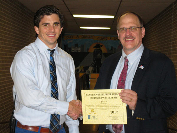 Jason Arnold, Academic Facilitator, South Carroll High School, left, and Thomas Milnes, Program Coordinator.