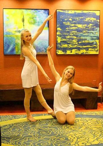 Francis Scott Key High School students Cara Hunter, left, and Jillian Luetje choreographed and performed a modern contemporary piece at the Dance Gala at the annual Maryland Association of Health, Physical Education, Recreation and Dance convention in Hunt Valley.