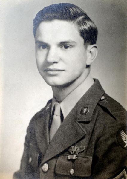 George Shinham military photograph during WWII.