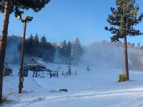 Mountain High ski resort in Big Bear Lake opened Sunday.