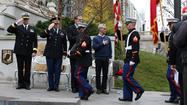 Nearly seven decades after he flew combat missions over Europe during World War II, Robert C. Buckley stood in his dress blue Air Force uniform on Wacker Drive Saturday morning, soaking up the respect and gratitude offered by hundreds of people who attended a Veterans Day ceremony on the city's riverfront.