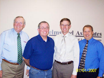 "Homes Are Possible Inc. of Aberdeen wishes to thank Helms and Associates of Aberdeen for their ""benefactor"" level of donation to HAPI¿s annual sustaining membership drive. From left: Terry Helms of Helms and Associates; Jeff Mitchell of HAPI; and Randy Bacon and Bob Babcock, both of Helms and Associates."