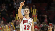 Joakim Noah suffered a laceration on his left knee in the first quarter and returned. Kirk Hinrich strained his right hip and hamstring in the second quarter and didn't.