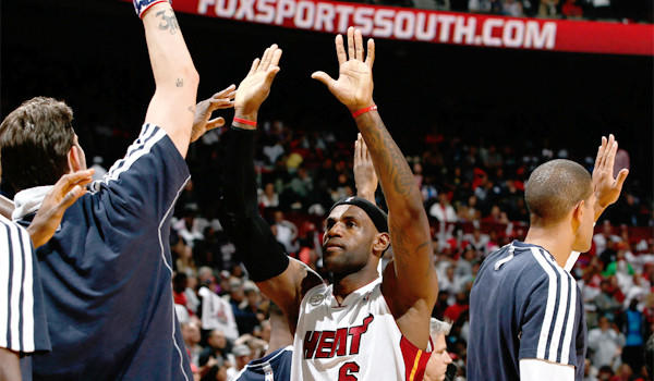LeBron James and the rest of The Times' No. 1 Miami Heat are off to their best home start ever.